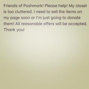 Donating my clothing soon!